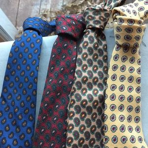 4 piece vintage polo tie collection  for boys